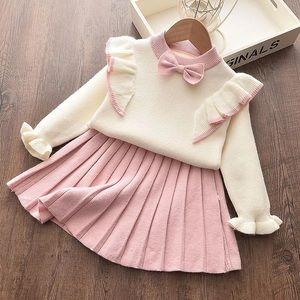 New Girls Sweater Shirt & Skirt Set